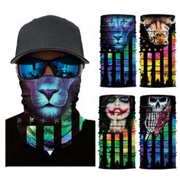 2019 fascia magica degli uomini Uomini che guidano la fascia magica Maschera per il viso creativa Sciarpe Bandane Stampa del fumetto Sciarpe senza cuciture digitali Maschere magiche Sciarpe TTA1681 fascia magica degli uomini economici