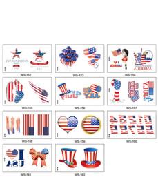 kinder tattoos großhandel Rabatt 105 * 60mm Independence Day Tattoo Aufkleber amerikanische Flagge Cartoon Kinder Tattoo Aufkleber Körperkunst bilden Werkzeuge Großhandel