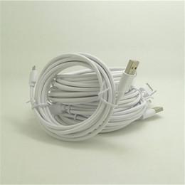 Кабельная медь онлайн-Быстрая высокоскоростная обязанность 2m 150pcs Медное высокомарочное OD3.5 TPE USB кабель для зарядки данных для i 5 6 Телефон 7 8