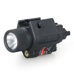 Комбинированные фонари онлайн-Новое прибытие M6 тактический фонарик Красный лазерный комбо со светодиодной горелкой для охоты стрельба Бесплатная доставка CL15-0015R