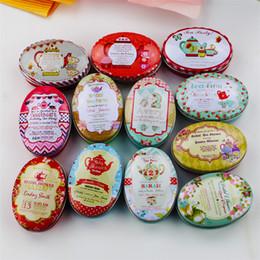 24 Unidades / lote Vintage Flor de Impresión Mini Caja de Lata Para Joyería Favor de La Boda Caramelos Cajas de Almacenamiento Decorativas Caja de Monedas Lindas desde fabricantes