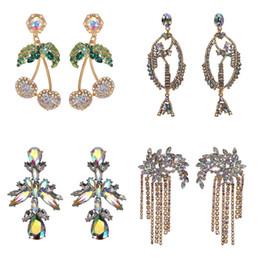 63a5310a2b36 mejores marcas de pendientes Rebajas Mejor dama de moda AB Color Cristal  Gota Pendientes colgantes Joyería