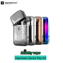Kits de iniciação ecigarettes on-line-100% original Vaporesso Aurora Play Starter Kit ecigarette 2 ml Vapor cartuchos vazios e 650 mAh Design mais leve