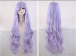 2019 длинный светло-фиолетовый парик WIGfree доставка Длинные Вьющиеся Волнистые Светло-Фиолетовые Волосы Мода Жаропрочных Женщин Косплей Партии Парик дешево длинный светло-фиолетовый парик