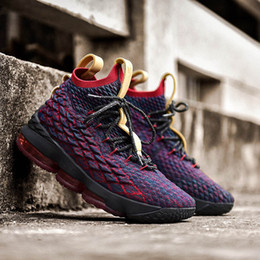 new product 9efea 4367b 2019 hommes chaussures lebron chaussures lebron 15 basketball shoes ÉGALITÉ  Noir Blanc mode respirant Hommes Chaussures