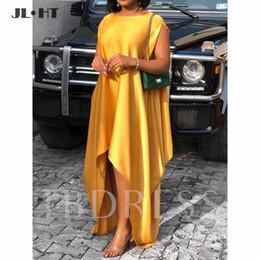 Короткое платье из желтого золота онлайн-Элегантные Золотые Желтые Вечерние Платья Длинные Короткие Sleev Пром GownAsymetrical Пром Платье Шелковый Атлас A-Line Вечерние Платья