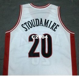 4e58a83a927 Men #20 DAMON STOUDAMIRE Arizona Wildcats White Red College Vintage jersey  Size S-4XL or custom any name or number jersey