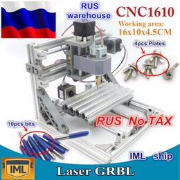 fresadoras de madeira Desconto RU ship 3 Axis Pcb Milling machine 1610 GRBL control DIY mini CNC machine area area 160x100x45mm, Wood Router, cnc router v2.4