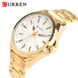 Gold Watch Man  Curren Quartz Watch For Men Stainless Steel Mens Wrist Watches Waterproof Casual Male Clock relogio от