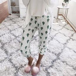 Argentina Pantalones con cordones de mujer Pantalones de lápiz de nueve puntos de impresión en blanco Pantalones de chándal casuales de mediana altura Bolsillos sueltos Pierna elástica 57 Suministro