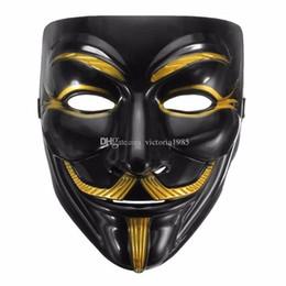 2019 v per il ragazzo della maschera di vendetta Alta qualità V per Vendetta Mask Anonymous Movie Guy Fawkes Halloween Masquerade Party Cosplay Mask Drop Shipping sconti v per il ragazzo della maschera di vendetta