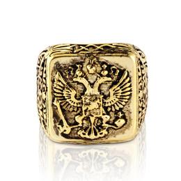 phoenix jóia de ouro Desconto Ouro e Prata do vintage Phoenix Anel de Aço Inoxidável 316L para Homens Domineering Jóias Atacado e Varejo Tamanho 7-14
