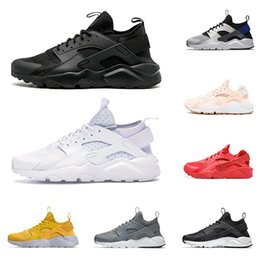 refroidir chaussures de sport Promotion 2020 huarache run ultra men women running shoes triple black white red Cool Grey pink mens trainer breathable sneaker outdoor sports walking