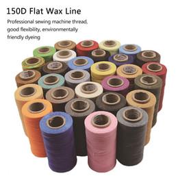 2019 artesanato de couro artesanal 50 m / rolo handmade encerado plana linha de cera de costura cabo de costura ferramenta de artesanato de costura de mão para diy couro artesanato de couro artesanal barato