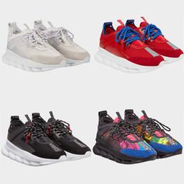 2019 zapatillas multicolor 2019 Original Diseñador Cómodo Lujo Rojo Negro Blanco Color Hombres Mujeres Ve rsace Deportes Zapatos para correr Zapatillas de deporte casuales rebajas zapatillas multicolor