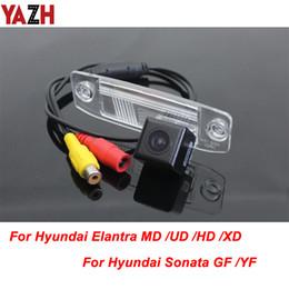 Imagens de referência on-line-YAZH Câmara de visão traseira Por Elantra XD HD MD UD / Sonata YF NF Com sensor de imagem CCD HD carro Linha de Referência Distância à prova d'água