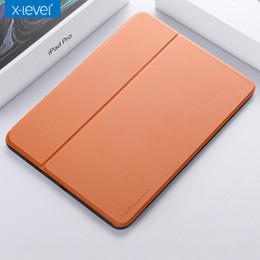 2019 pele de borracha pesada X-level leather flip case para ipad pro 11 12.9 polegadas com kickstand capa fina para ipad pro 11 2018 com função de sono inteligente