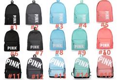 2019 bolsos de hombro de las niñas Pink Letter Mochila Bolsa de hombro Oxford chicos, chicas, amor de los estudiantes de color rosa de gran capacidad School Book Bolsas de viaje al aire libre para adultos Bolsas Mochila rebajas bolsos de hombro de las niñas