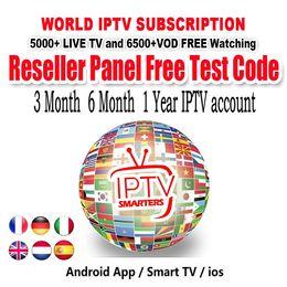 Canada 3 6 12 mois d'abonnement IPTV 5000+ TV en direct Adultes gratuits VOD Français Arabe Royaume-Uni Allemagne Europe Iptv Sports gratuits Smart TV TV BOX Compte IPTV cheap iptv box arabic free Offre
