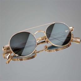 титановые дизайнерские очки Скидка новый модный дизайнер солнцезащитные очки и оптические очки двойного назначения MAYBACH ретро круглая титановая рамка винтажный стиль моды
