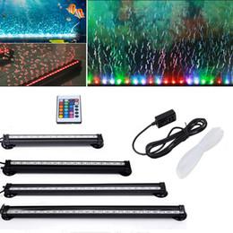 Acuario LED RGB 25 de luz / 37/41 / 51cm del acuario sumergible acuática luz burbuja de aire Oxigenación lámpara del enchufe de la UE de EE.UU. desde fabricantes