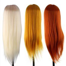 Bambola per capelli online-60 centimetri di parrucchiere Dolls Styling Mannequin Capelli lunghi di addestramento di pratica Testa umana professionale del salone Hair Styling Head + morsetto Set