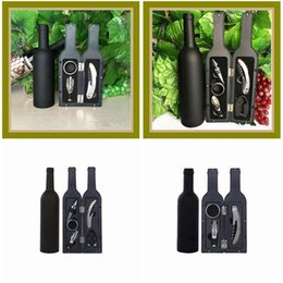 Insieme di regalo del tappo della bottiglia di vino online-5Pcs 3Pcs Wine Bottle Opener Set Red Wine Corkscrew Wine Bottle Stoppers High Grade Wines Accessory Gifts Box ZZA1835
