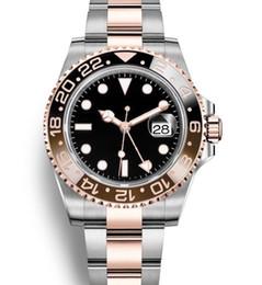 2019 vermelho preto g choque GMT Cerâmica Bezel Automático 2813 Movimento Mens Mecânico de Aço Inoxidável Designer de Luxo Relógio de Moda Relógios de Pulso Dos Homens Do Mestre