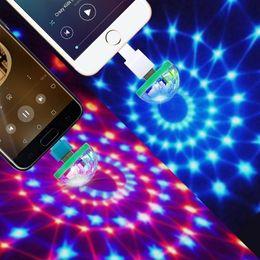 Mikrofoneffekte online-Mini USB Disco Licht 5 V USB Led Bühne Licht Musiksteuerung Licht KTV DJ Disco Bühneneffekt Lampen Mikrofon Bunte Lichter