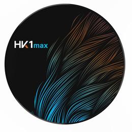 1pcs !! HK1 Max Android TV Box 4GB 32GB RK3318 Quad Core Android 9.0 inteligente exibição 2.4G 5G Wifi 4K Media Player de Fornecedores de android mini pc oem