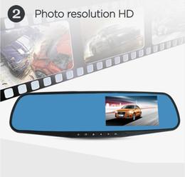 2019 câmera dupla espelho retrovisor do carro dvr Full HD 1080 P Carro Dvr Espelho Dupla Câmera 4.3