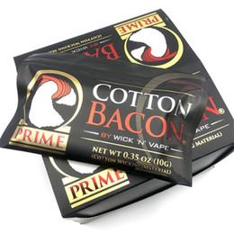 2019 protetor de anel de vapor Bacon de algodão 2.0 V2 Etiqueta de Ouro DIY Bacon Orgânico Guia de Algodão Para RDA RBA Atomizadores E Cigarros Vaporizadores fio de calor