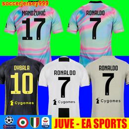 5ab61b12ca1 TOP Thailand Juventus soccer jersey football shirt uniforms RONALDO 18 19  champion league jerseys Bernardeschi 2018 DYBALA JUVE EA sports