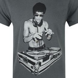 2019 dj vestindo bruce lee DJ T-shirt como a usada por Stark tony em vingadores filme engraçado frete grátis Unisex Casual T do presente desconto dj vestindo