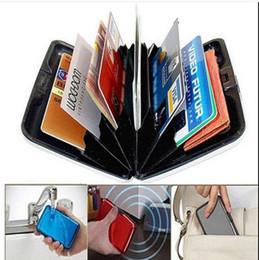 2019 carteras de tarjetas de crédito duras Nuevo RFID Bloqueo de aluminio Titular de la tarjeta de crédito Aluma Funda Anti Scan Wallet Hard rebajas carteras de tarjetas de crédito duras