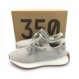 B cream en Ligne-2019 avec la boîte Kanye West top qualité chaussures de course beurre crème de zèbre sésame blanc de race noir orange rayures baskets 36-48