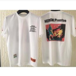 nueva colección de hombres de la camisa Rebajas 2019ss Heron Preston Nueva Colección Impreso Mujer Hombre Camisetas Camisetas Hiphop Streetwear Hombre Algodón Camiseta de manga corta