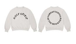 Бренд Дизайнер балахон Kanye West HOLY SPIRIT классическая уличная мода хип-хоп хип-хоп толстовка с капюшоном дизайнер одежды высокого качества от
