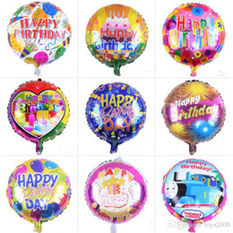 111 воздушных шаров Скидка 18-дюймовый надувной день рождения украшения Баллоны пузырь гелием воздушный шар С Днем Рождения воздушные шары из фольги оптовой для детей