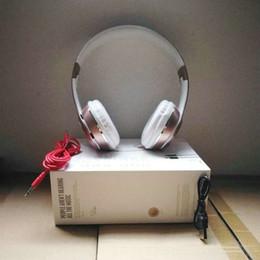Audífono online-¡¡1 pieza!! Sol3 Auriculares inalámbricos con micrófono de diadema ajustable Cable de audio de 3.5 mm Auriculares Bluetooth para Iphone Samsung Huawei