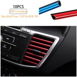 10 unid Car-styling Chrome Car Aire Acondicionado Outlet Rejilla Decoración En forma de U Interior del coche Accesorios 8 tipos Estilo desde fabricantes