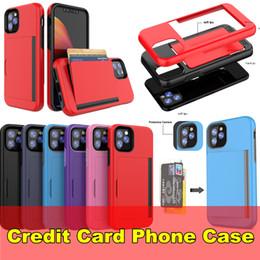 carte de crédit moto Promotion Cas de téléphone de carte de crédit pour Samsung Note 10 Pro S10 5G S10E Iphone 5.8 6.1 6.5 6.5 2019 MAX XR LG K40 MOTO G7 Couverture HUAWEI P30 luxe Couverture