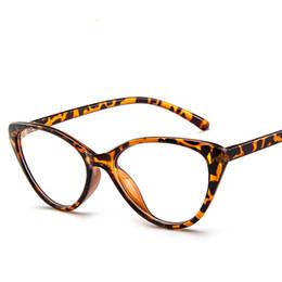 Gato simples on-line-Senhoras Moda Moderna Prescrição Óculos Óculos de Armação Completa Plain Womens Oversized Cat Eye Reading Glass