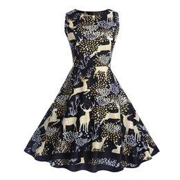 Los modelos más vendidos de Explosion vestido de navidad falda de campana femenina de impresión de ciervo falda desde fabricantes