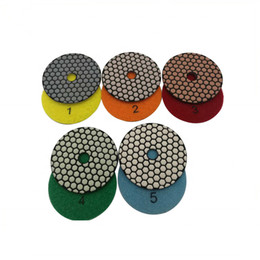 tools for marble Coupons - Diamond Stone Polishing Tools 5 Step Dry Polishing Pads Diamond Flexible Dry Polishing Disc for Granite Marble Tiles 10PCS