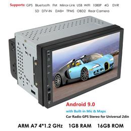 """android honda crv Desconto Ossuret 2Din Android rádio Car Multimedia Video Player GPS de Navegação 2 din 7"""" HD Universal auto de áudio estéreo dvd WiFI Bluetooth carro USB"""