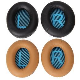 Fone de ouvido de substituição on-line-1 Par Almofadas de Substituição de Ouvido para Bose Headphones Proteína Couro SoundTrue Conforto e Macio 2 QC25 AE2 QC2 QC2 Almofadas de Orelha