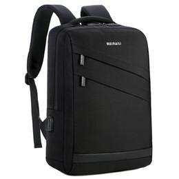 mochilas de negócios laptop para homens Desconto Mochila Laptop de negócios 14 15.6 polegada Moda Homens Viajar de Volta Multifuncional Escola de Nylon Preto Bagpacks Para Adolescentes