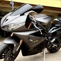 parabrezza bmw Sconti Schermo del parabrezza Parabrezza Double Bubble motociclo per 2013 2014 2015 2016 2017 Daytona 675R 675 Black Smoke Iridium