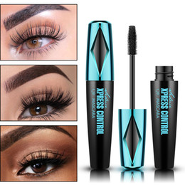 Wasserdichte bürste online-QIC 4D Silk Fiber Lash Mascara Waterproof Mascara Schwarz Make-up für Wimpernverlängerung Dick Verlängerung Sex Eye Lashes Bürste Augenkosmetik